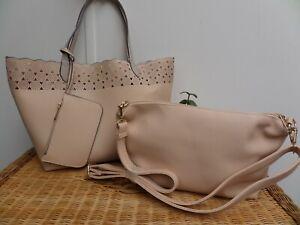 Hotter bags -x1 Tote/Shopping Bag & x1 Crossbody Bag (Beige/Cream) BNWT