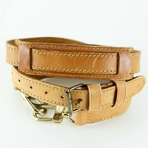 LOUIS VUITTON Leather Strap For Keepall Bandouliere Light Brown 98-120cm