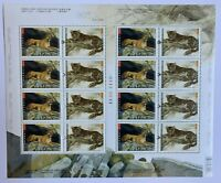 Canada 2005 #2123 Big Cats Cougar & Amur Leopard Pane of 16 Stamps MNH