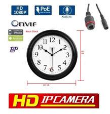 Wall Clock Hidden Camera 1080P 2MP PoE Onvif Security network ip camera P2P