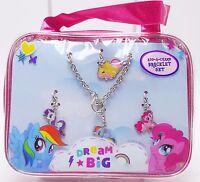Girls My Little Pony Dream Big Add-a-Charm Bracelet Set 4 Charms Bonus Purse New