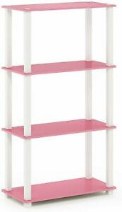 SHELF! 4 Shelves Pink & White FUN! STORAGE! DISPLAY! ORGANIZATION!