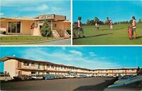 Burley Idaho~Ponderosa Inn~Office~Golf Course~Rooms~Nice 1950-60s Cars~PC