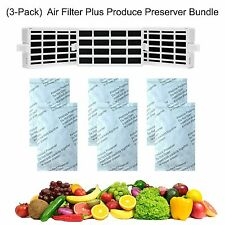 (3-Pack) Whirlpool Compatible Air Filter W10311524 &Produce Preserver W10346771A