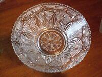 Large Clear Depression Glass Serving Bowl