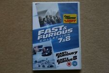 FAST AND FURIOUS 7 AND 8 COLLECTION       BRAND NEW SEALED GENUINE UK DVD