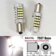 7507 BAU15S PY21W 63 LED Projector White Bulb Front Signal B1 #12 For Honda