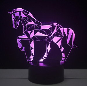 3D LED Illusion Night Light 7 Colours Table Lamp - The Puzzle Horse