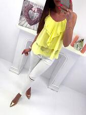 Halter Flare Sleeveless Strap Ruffle Women Coqueta Chiffon Shirt Blouse Sexy Top
