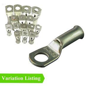 Crimp or Solder Battery Lug Copper Terminals / Cable & Bolt Hole All Sizes