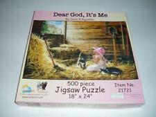 Carla D'Aguanno Dear God,It's Me Sunsout Jigsaw Puzzle Complete