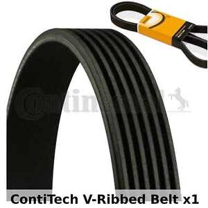 ContiTech V-Ribbed Belt - 6PK2415 , 6 Ribs - Fan Belt Alternator, Drive Belt