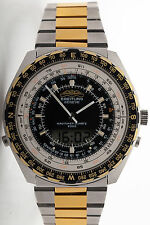 Vintage RARE Breitling SS Gold Mens JUPITER Navitimer Quartz 2300 Watch MINTY