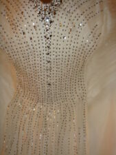 Monsoon Ivory Silk Crystal Beaded Wedding Dress Size 16 Special Occasion Dress
