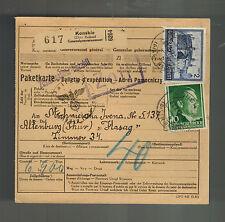 1942 Konskie Germany Parcel Cover to Altenburg KZ Concentration Camp Hasag Works