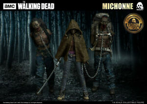 Threezero figures 1/6 the walking dead complete set Michonne and pets new in box