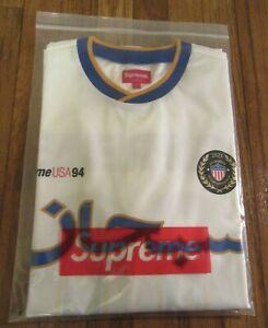 Supreme Arabic Logo Soccer Jersey Size Large White SS21 Supreme New York 2021 DS