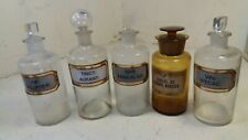5 Old Chemist Bottles  / start sale 30