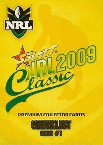 2009 Select NRL Classic Series  Full Base Set 195 footy cards