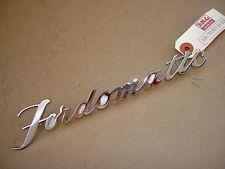 "52 Ford trunk lid ""Fordomatic"" script, BA-7043528-EZ8, NOS"