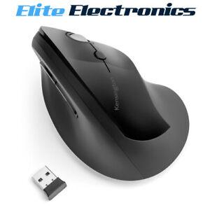 Kensington Pro Fit Ergo Vertical Wireless Mouse Black 6 Buttons
