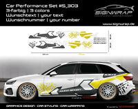 CAR PERFORMANCE SET - Camouflage Seitenstreifen Autoaufkleber - #5_303