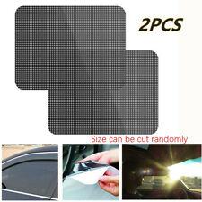 2*Car Side Window Sun Shade Shied Solar Mesh Film Sticker UV Protector 63 * 42cm