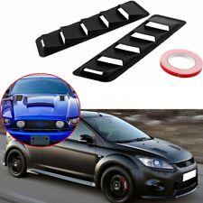 2x Universal Car Vehicles Bonnet Hood Vent Louver Scoop Cover Trim Matte Black