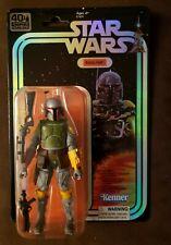"Star Wars BOBA FETT 40th Anniversary SDCC Foil Pkg Black Series 6"" Hasbro NEW"