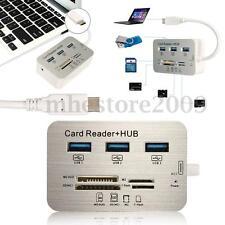 7 in1 LED Type-C To USB 3.0 Hub USB 3.1 MS/ M2/ SD/ TF Card Reader For Macbook