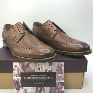 Johnston & Murphy Men's Size 9.5 to 11 Conrad Embossed Wingtip Shoes MSRP $169