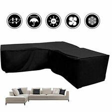 Waterproof Garden Rattan Corner Furniture Cover L Shape Outdoor Sofa Protective