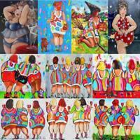 Fat Women Art DIY 5D Diamond Painting Embroidery Cross Crafts Stitch Kit