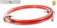 "AN -3 ( 1/8"" I.D) Stainless Braided Red PVC Coated Teflon Brake Hose 1m"
