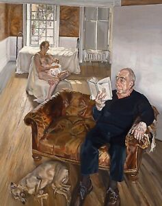 LUCIAN FREUD Jerry Hall (1998) (60x47cm), FINE ART CANVAS PRINT, FREE P&P