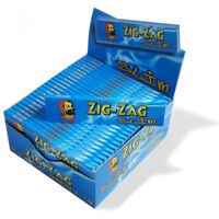 Zig Zag King Size Blue Rolling Paper - Box Of 50 Booklets