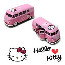 Hello Kitty Mini Bus Diecast Volkswagen Car Figure Model Toy