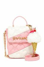 BETSEY JOHNSON SPLIT DECISION Crossbody Bag ICE CREAM CONE Pink NEW With Tag