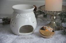 Duftlampe Weihnachten Keramik Duftmelt Duft-Tart Burner Deko Landhaus Shabby