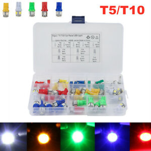 50PCS 12V T5 T10 Car Truck Instrument Panel Light Bulb Clusters Dashboard Lamps