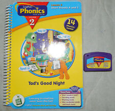 Leap Pad Book and Cartridge Leap Pad Phonics Tad's Good Night Lesson 2 Age 4-7
