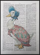 Jemima Puddle-Duck Beatrix Potter Vintage Dictionary Book Page Print Art Picture