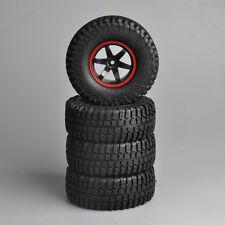 "4 X 1.9"" Rubber Rock Crawler Tires&Wheels 12mm Hex For 1/10 RC Model Car Truck"