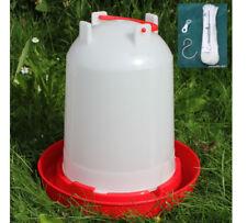 6 L Stülptränke für Geflügel mit Aufhängeseil Wasserspender Hühner Enten Gänse