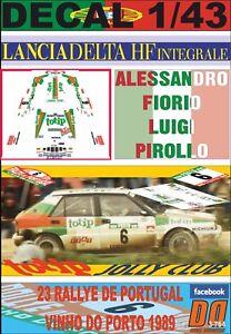 DECAL 1/43 LANCIA DELTA INTEGRALE A.FIORIO R.PORTUGAL 1989 3rd (12)