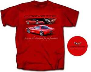 C5 CORVETTE SETTING THE STANDARD FOR PERFORMANCE ADULT RED COTTON TEE SHIRT GM