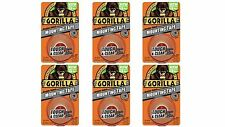"""Gorilla 6065001-6 Double-Sided Tough and Clear Mounting Tape (6 Pack), 1"""" x 6."""