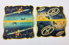 2 Pcs Vintage Space Themed Rocket Satellite Needle Packs Japan circa 1960s As Is