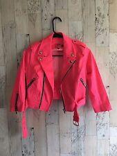 Tripp NYC Hot Pink Moto Jacket Size XS