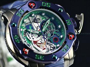 Invicta 53mm DC Comic LE Reserve Sea Hunter JOKER Swiss Titanium Purple SS Watch
